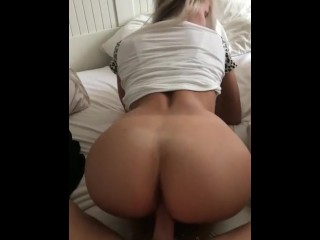 Wife gives m a blowjob while i watch tv